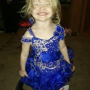 Royal blue cupcake dress